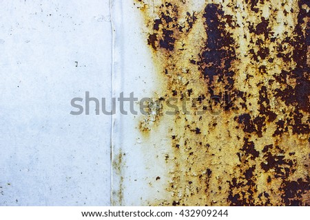 Metal surface with rust   - stock photo