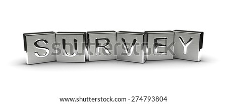 Metal Survey Text (isolated on white background) - stock photo