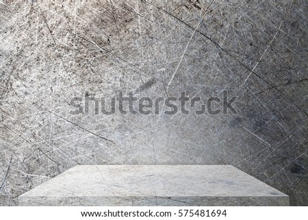 metal table top texture. metal table top or shelf on texture background