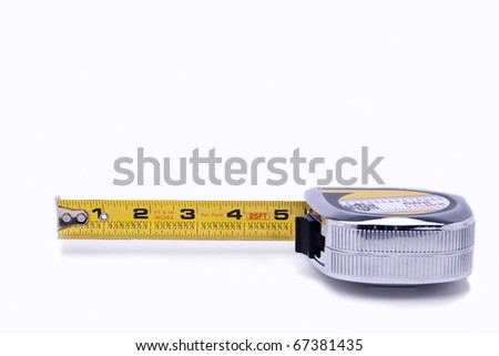 Metal tape measure - stock photo