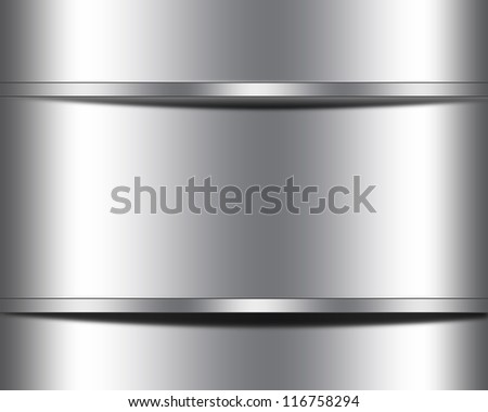 Metal template for your picture or text - stock photo