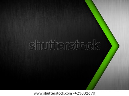 metal template with arrow pattern background - stock photo