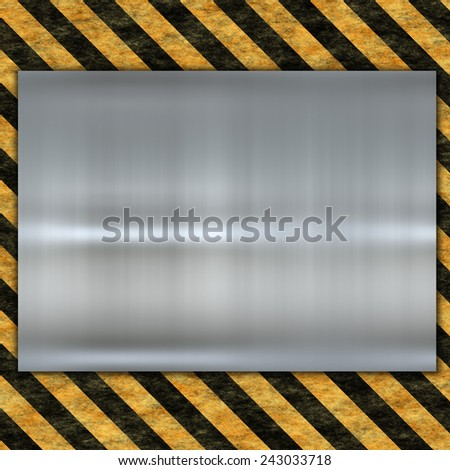 metal template with danger sign - stock photo