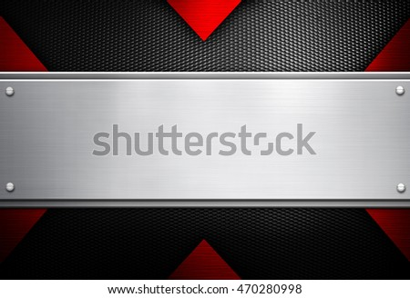 metal template with x design background