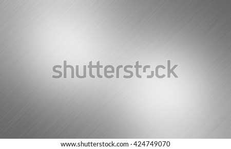 Metal texture background, brushed neutral surface, gray plate - stock photo
