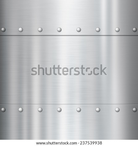metal texture background with rivets - stock photo