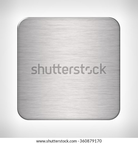 Metal texture icon (button) on neutral background, template for applications (app), web user interfaces, internet sites and business presentations. - stock photo