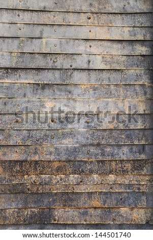 metal texture on the old gate - stock photo
