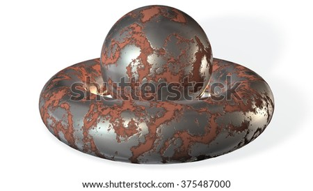Metal texture on white background