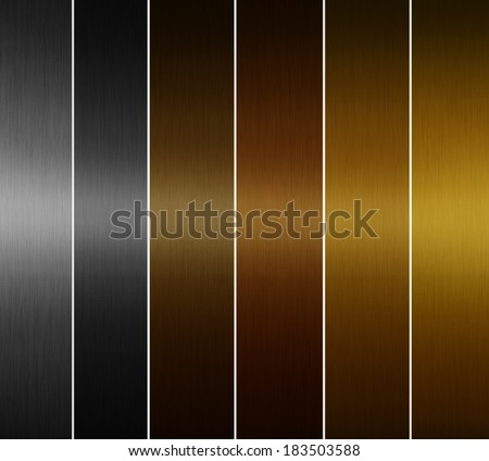metal textures - stock photo