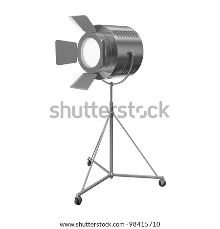 Metal Theater Spotlight isolated on white background