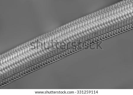 Metal tube - stock photo