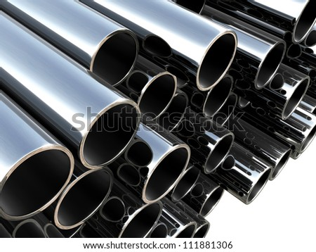 Metal tube - industrial background