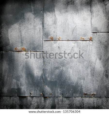 metal wall , grunge industrial background - stock photo