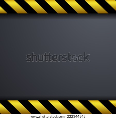Metal warning background