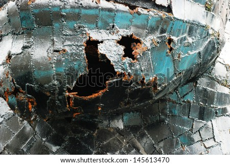 metal with rust texture - stock photo