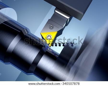Metal working of the machine. - stock photo