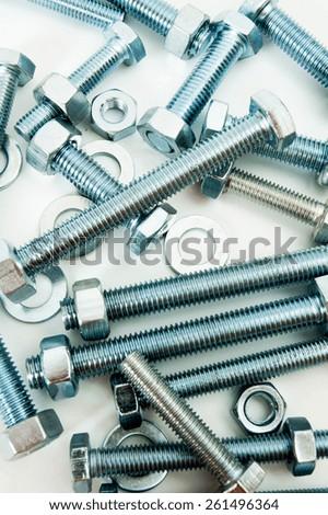 Metal working tools. Metalwork. Metal fixture. - stock photo