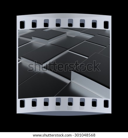 Metall urban background. The film strip