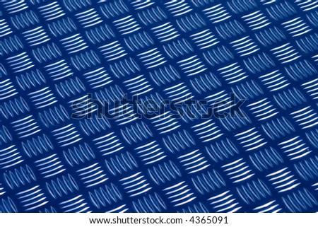 Metallic anti slip floor - stock photo