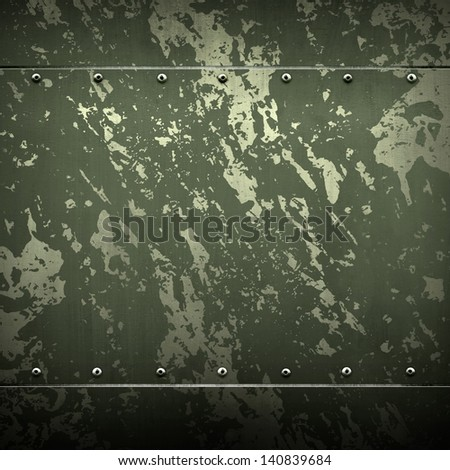 metallic background with army color - stock photo