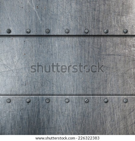 Metallic background with scratches and stains