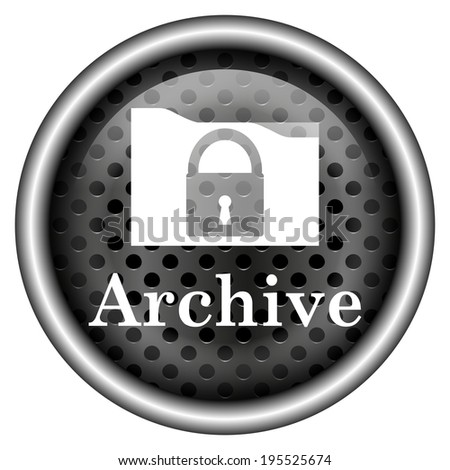 Metallic black glossy icon on white background