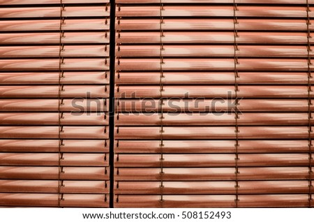 metallic blinds