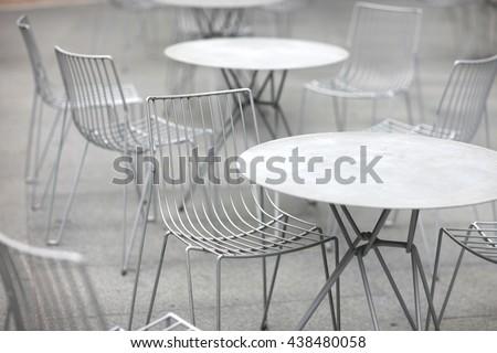 Metallic furniture outdoors. Metal Furniture Stock Images  Royalty Free Images   Vectors