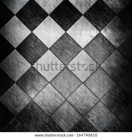 metallic grid background - stock photo