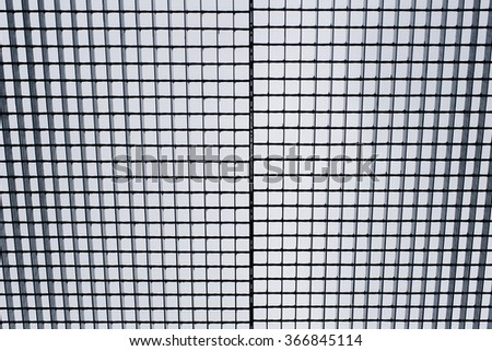 Metallic Grid from Underneath Background