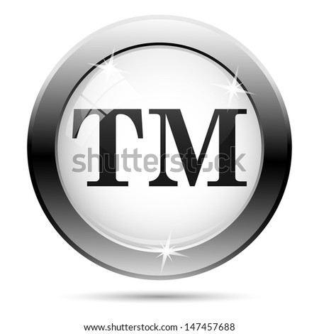 Metallic icon with black design on white glass background - stock photo