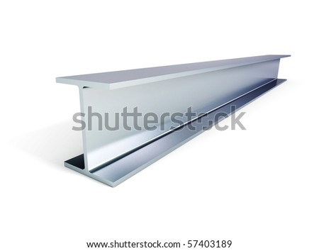 metallic joists on a white backgroun - stock photo
