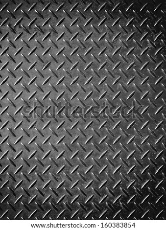 Metallic list with rhombus shapes with sand - stock photo