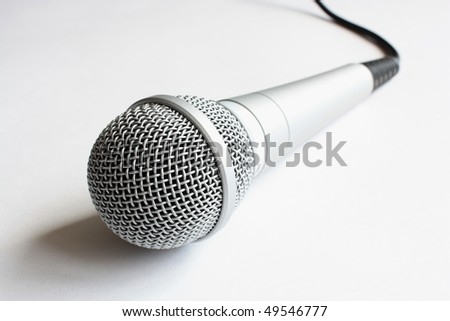 Metallic microphone with selective focus.