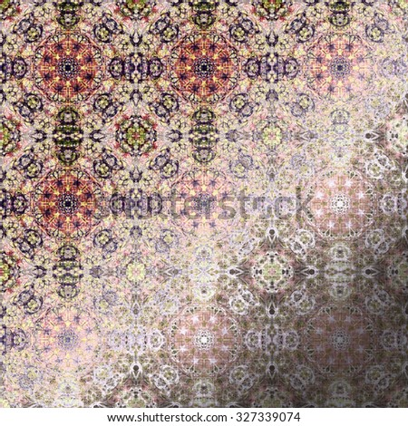 Metallic oriental pattern, folk traditional elements. Royal texture for textile, wallpapers, advertisement, page fill, book covers etc. Boho-chic fabric background, dusty rose foil - stock photo
