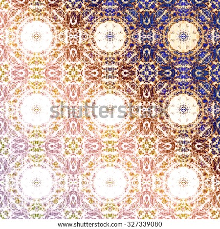 Metallic oriental pattern, folk traditional elements. Royal texture for textile, wallpapers, advertisement, page fill, book covers etc. Boho-chic fabric background, dusty rose and violet foil - stock photo