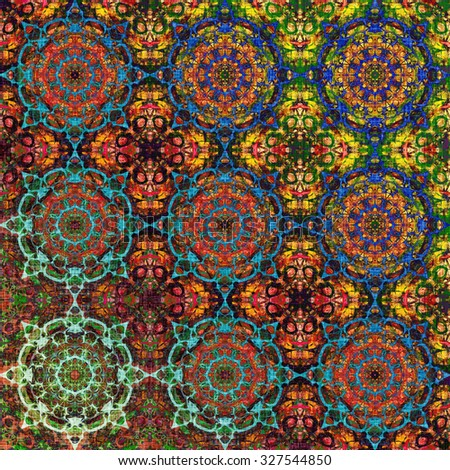 Metallic oriental pattern with ethnic traditional elements. Royal texture for textile, wallpapers, advertisement, page fill, book covers etc. Christmas background, colorful foil - stock photo