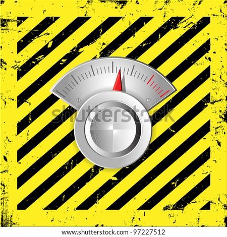 Metallic radial regulator - stock photo