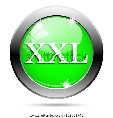 Metallic round glossy icon with white design on green background