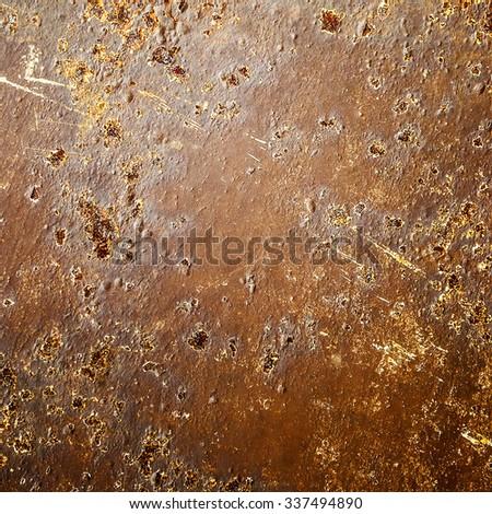 metallic rust texture background - stock photo