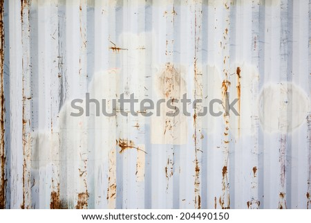 Metallic rusty texture stripe pattern - stock photo