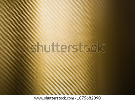 Metallic Shiny Texture Of Gold Carbon Fiber Self Adhesive Paper Material For Racing Car