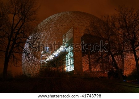 Metallic Structure at Night - stock photo