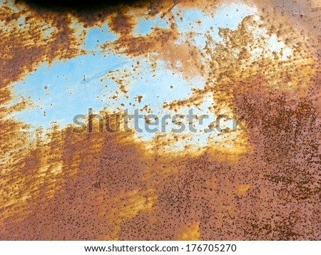 Metallic texture with rust for backgrounds - stock photo