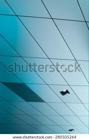 metallic wall covering - stock photo