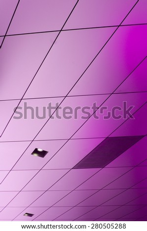 metallic wall covering - stock photo