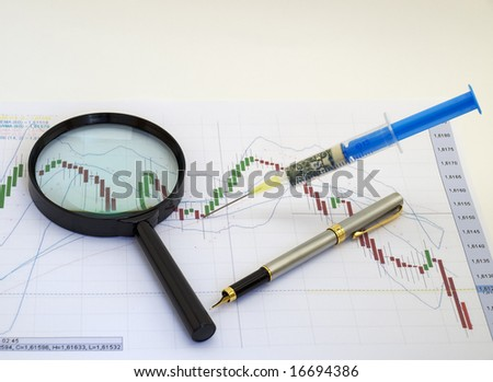 Metaphor about financial and stock market exchange. - stock photo