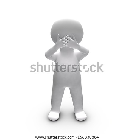 Metaphor of a person who chooses not to tell what he knows - stock photo