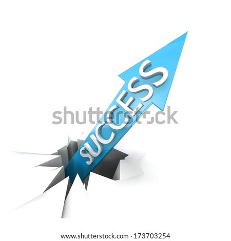 Metaphor of busines growth with acute arrow. Concept illustration. 3d visualization - stock photo